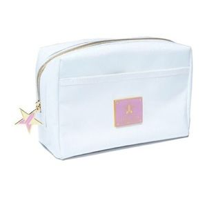 White glitter jeffree star makeup bag